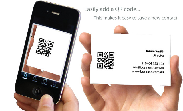 Easily add a QR code