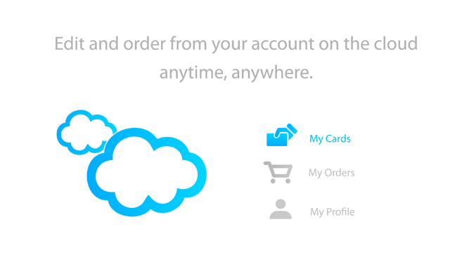 Edit and order from your account on the cloud
